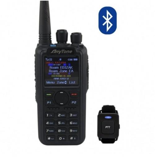 ANYTONE AT-D878UV PLUS-RTX VHF/UHF ANALOG/DMR  PTT BTOOTH/VFO/ROAMING/GPS
