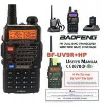BAOFENG BF-UV9R+HP 8 WATT 144-430 MHz GARANZIA E MANUALE IT