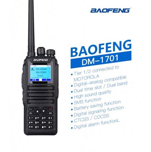BAOFENG DM-1701 - RICETRASMETTITORE BIBANDA DMR / ANALOGICO VHF UHF