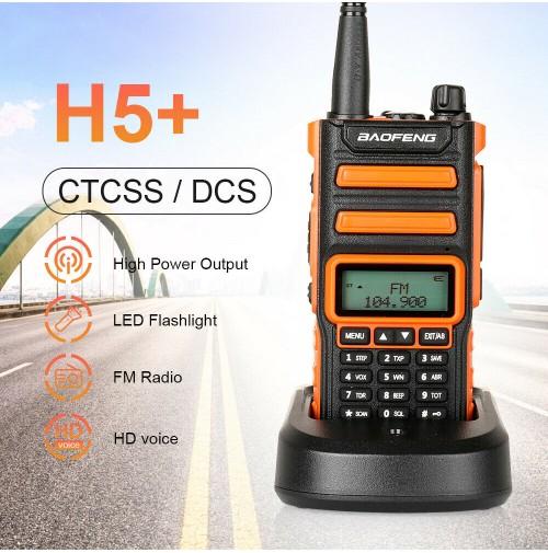 BAOFENG H5+ ricetrasmettitore 10w Dual-Band  VHF/UHF  Radio FM