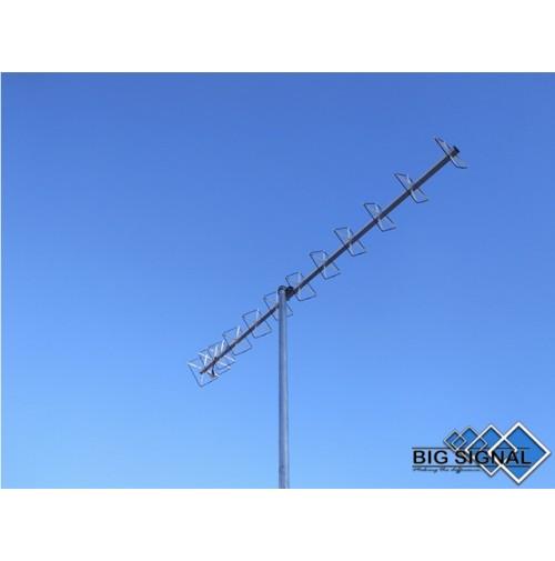 BIG SIGNAL 12BS-70-ANTENNA DIRETTIVA 432 MHz CUBICAL QUAD 12 ELEMENTI