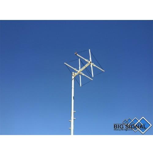 BIG SIGNAL 2BS-2-ANTENNA DIRETTIVA 144 MHz CUBICAL QUAD 2 ELEMENTI
