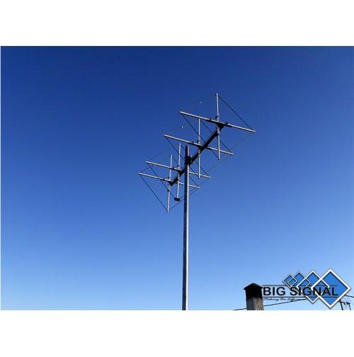 BIG SIGNAL 6BS-2-ANTENNA DIRETTIVA 144 MHz CUBICAL QUAD 6 ELEMENTI