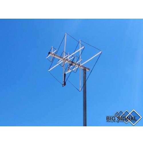 BIG SIGNAL 6BS-270-ANTENNA DIRETTIVA 144/432 MHz CUBICAL QUAD 6 ELEMENTI