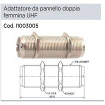 ADATTORE DOPPIA FEMMINA SO-239 (BARILOTTO) DA PANNELLO