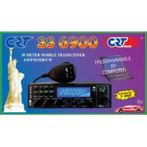 CRT SS-6900 V6-RTX MOBILE HF 10 METRI AM/FM/SSB ALL MODE (10/11/12 MT EXPORT)