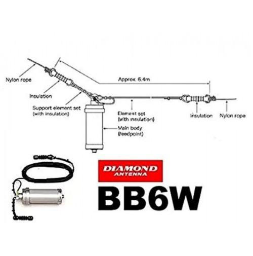DIAMOND BB-6W-ANTENNA LONG WIRE 2-30 MHz UNICO BRACCIO DA 6.4 MT