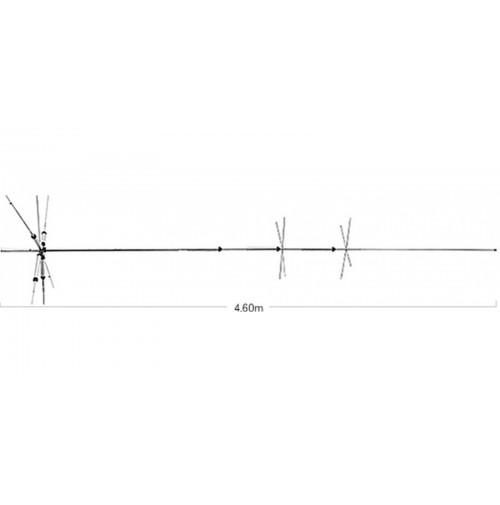 Diamond - CP-6SR Antenna Verticale HF+50MHz con bobina 80 mt