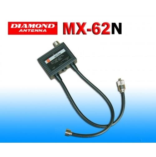 DIAMOND MX-62N-DUPLEXER 1.6-56/76-470 MHz CONNESSIONI PL259/NM