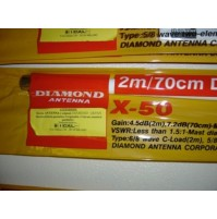 DIAMOND X50N - ANTENNA BIBANDA VHF UHF DA BASE - ATTACCON N