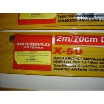 DIAMOND  X50N - ANTENNA BIBANDA VHF UHF DA BASE - ATTACCON N