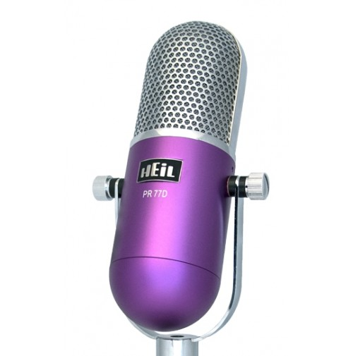 HEIL SOUND PR-77D PURPLE  retro RECORDING STUDIO quality dynamic microphone