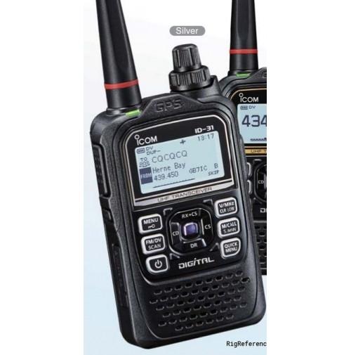 ICOM ID-31E PLUS  RICETRASMETTITORE  UHF D-STAR ANALOGICO
