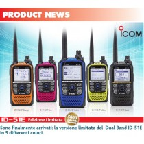 ICOM ID-51E LIMITED EDITION 51° ANNIVERSARIO ORANGE + FODERO lc-159
