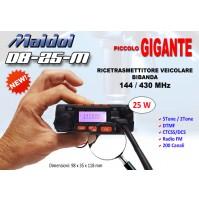 MALDOL DB-25-M RTX VHF UHF VEICOLARE  25W
