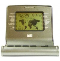 MFJ-112B CLOCK, DELUXE WORLD MAP