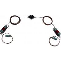 MFJ-17754 Antenna dipolo dual band da 40/20 metri con alimentazione coassiale corta