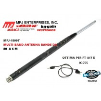 MFJ-1899T IC-705 FT-817, KX3, Antenna telescopica MULTI-BAND ANTENNA DA 80m a 6m