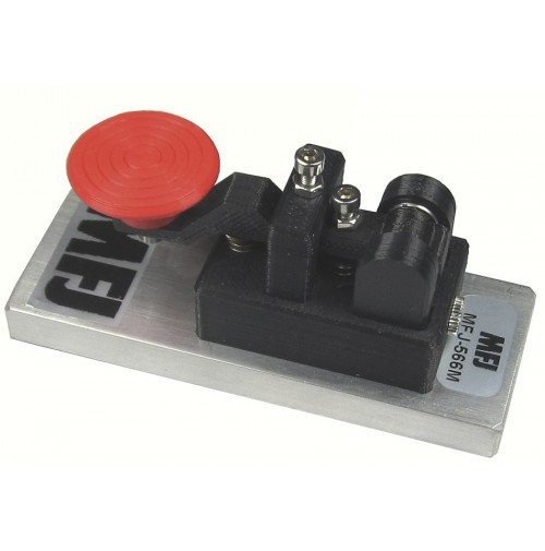 MFJ-566M - CW TELEGRAPH KEY ON HEAVY METAL BASE - TASTO VERTICALE MINI