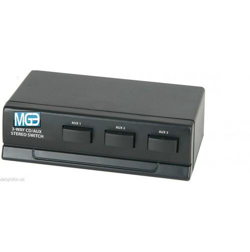 MGE  COMMUTATORE 3 VIE RCA PER AMPLIFICATORE LINEARE