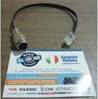 MGE ADATTATORE MIC. KENWOOD 8 POLI - RADIO YAESU PLUG 6 (FTM-400/8900/FTM-100DE)
