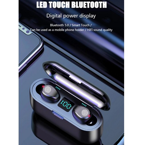 MGE Auricolari BlueTooth stereo  Earphones Headphone Touch Control Sport Headset LED Display