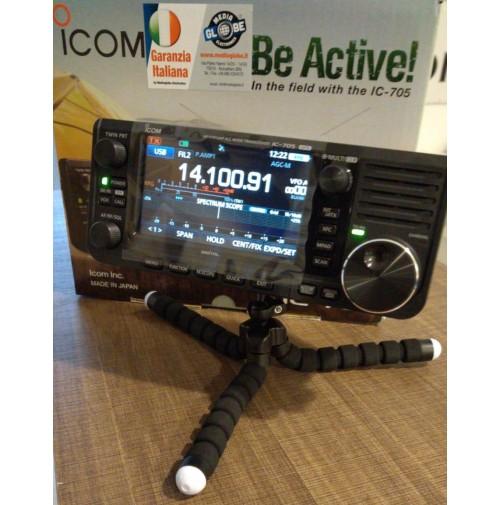 MGE TRE PIEDI PER SMARTPHONE E ICOM IC705 CON GAMBE FLEX BLACK DESIGN