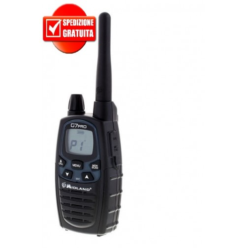 MIDLAND G7 PRO PORTATILE Bibanda 8 CAN PMR E 69 CAN LPD - NEW VERSION
