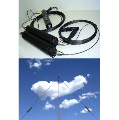 PKW FT 80/160 DIPOLO FILARE V INVERTED Frequenza  3,6 - 1,8 MHz Balun 1:1 - 2 Kw P.e.P.
