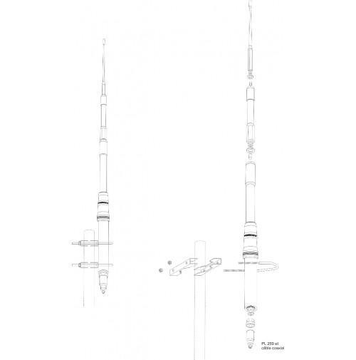 PRESIDENT HIMALAYA WB - ANTENNA  22-30 MHz & CB - 2000 WATT 1/2 ONDA