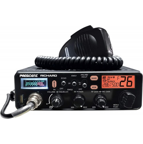 PRESIDENT RICHARD 10 Meter Ham Radio, 50W PEP AM/FM