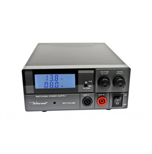 TELECOM RPS-1230-SWD- ALIMENTATORE DIGITALE, 30A, 9-15 V. per ICOM YAESU KENWOOD