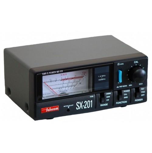 TELECOM SX-201 - ROSMETRO E WATTMETRO 1,8-200 MHZ 5/20/200/1000 W