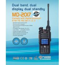 TYT MD-2017   RICETRASMETTITORE BIBANDA DMR / ANALOGICO VHF UHF IP67 GPS