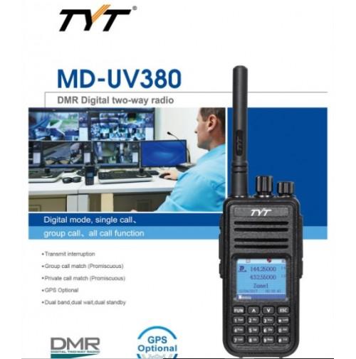TYT MD-UV380  RICETRASMETTITORE BIBANDA DMR / ANALOGICO VHF UHF