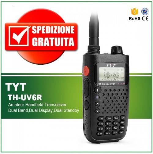 TYT TH-UV6R Ricetrasmettitore portatile   Dual Band VHF/UHF