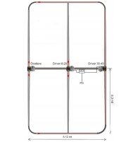 ULTRABEAM UB-50 - 3 elements yagi : 6-10-12-15-17-20 & 1 elements folded dipole : 30-40 meters