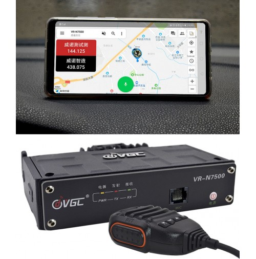 VGC VR-N7500 ricetrasmettitore 144/430 Mhz APP Bluetooth con transponder analogico/android