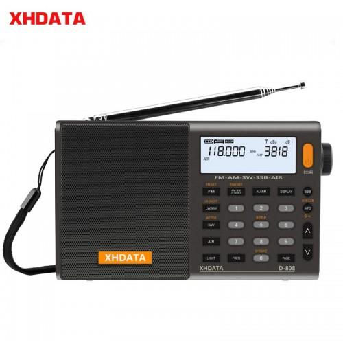 XHDATA D-808 Portatile Radio Digitale FM Stereo/SW/MW/LW SSB AIR RDS   Alarm Clock Radio