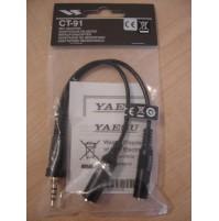 YAESU CT91 adattatore a due prese mic/ear per VX-7R/VX-6E